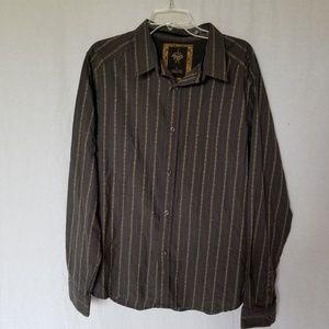 Men's Prana button down long sleeve shirt size L.